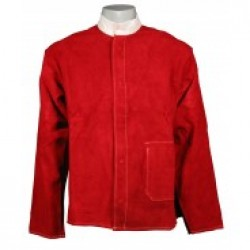 SWP Red Leather Welding Jacket - XL