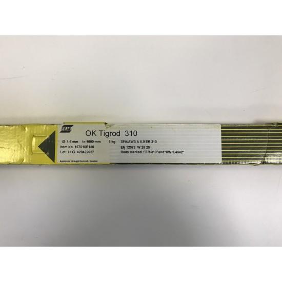 ESAB 310 Stainless Steel Tig Rod - 1.6mm (5kg)