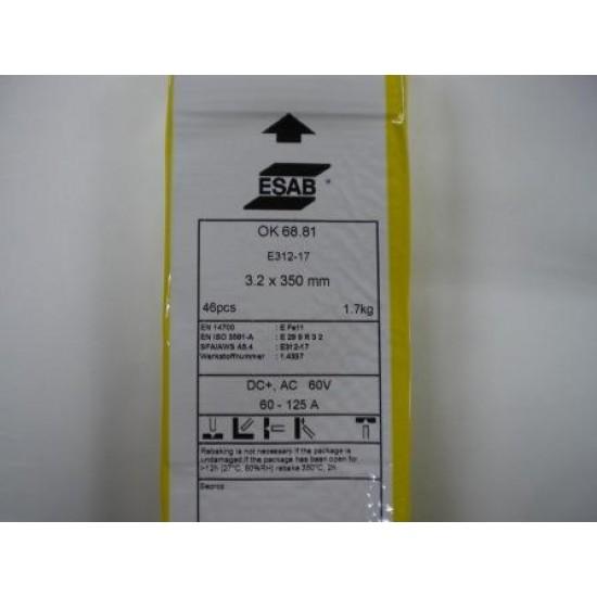 Esab OK68.81 312 Stainless Steel Welding Rod 3.2 x 350mm (1.7kg)