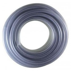 "Clear Braided PVC Hose 1/4"" Bore (30m Roll)"