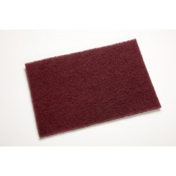 7447 General Purpose Hand Pad, Maroon, 3M Scotch-Brite - Pack 3